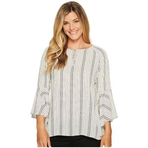 Ivanka Trump Georgette Bell Sleeve Blouse Small